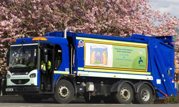 Perthshire bin lorries will now only have two refuse collectors per vehicle.