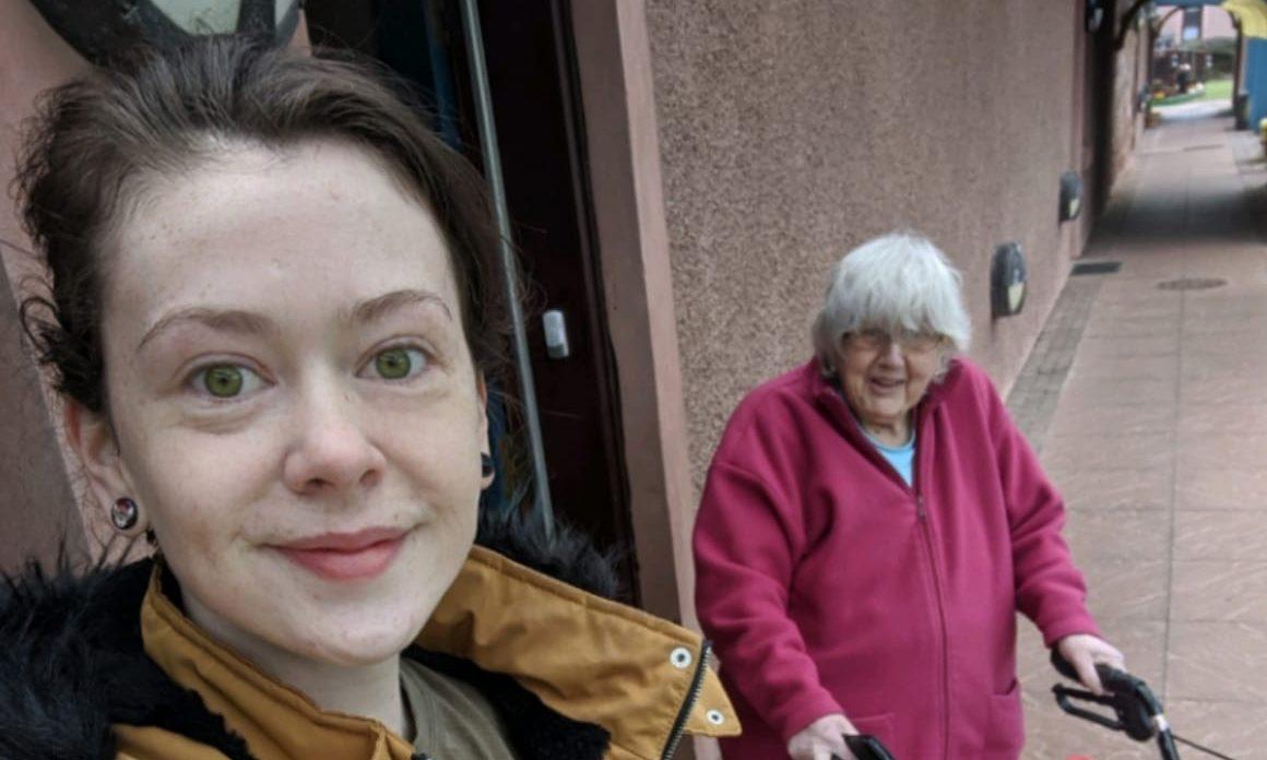 Blayre Mackellar and Beatrice Gerrard in Arbroath.