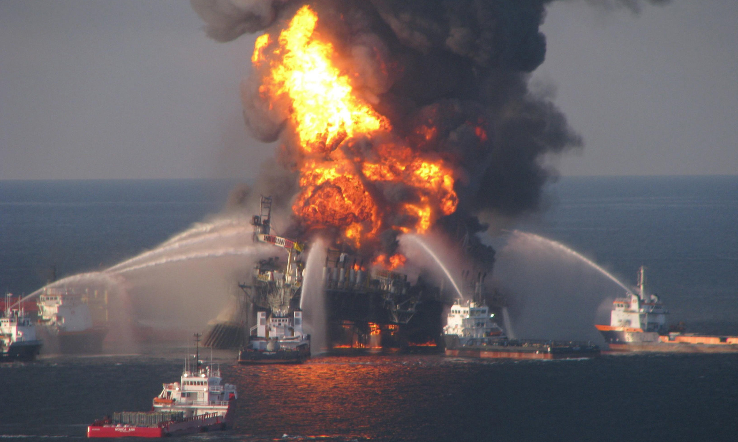 On April 20, 2010, a methane explosion on BP's Deepwater Horizon Rig caused it to catch fire and sink, spilling 4.9m barrels of oil into the Gulf of Mexico.