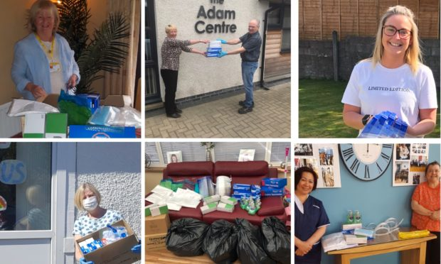 Donations have been made across Dundee and Angus.