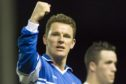 Martin Hardie celebrates scoring for St Johnstone.