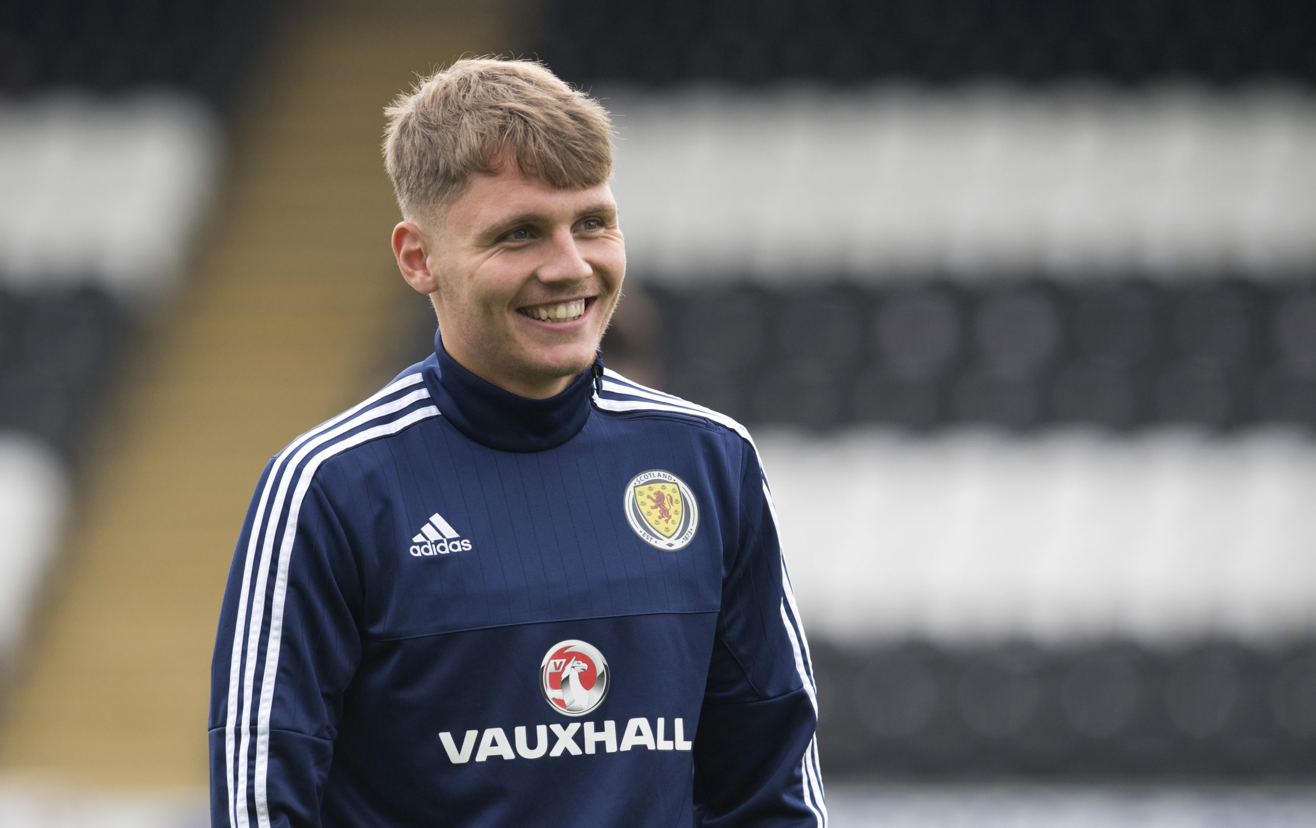 Jason Kerr in Scotland colours.