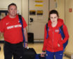 Laura Muir and her coach Andy Young.