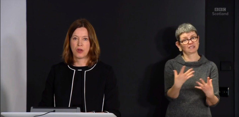 Screengrabs of the daily Coronavirus Covid-19 briefing with Nicola Sturgeon and Catherine Calderwood 5/4/2020