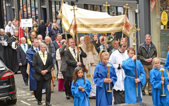 The pilgrimage attracts hundreds of people.