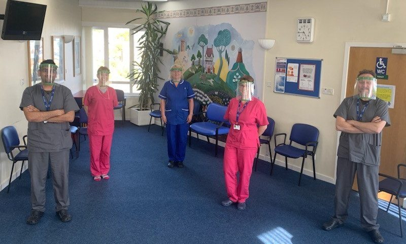 Staff at Princes Street Surgery in Dundee are using the face shield produced by NCR