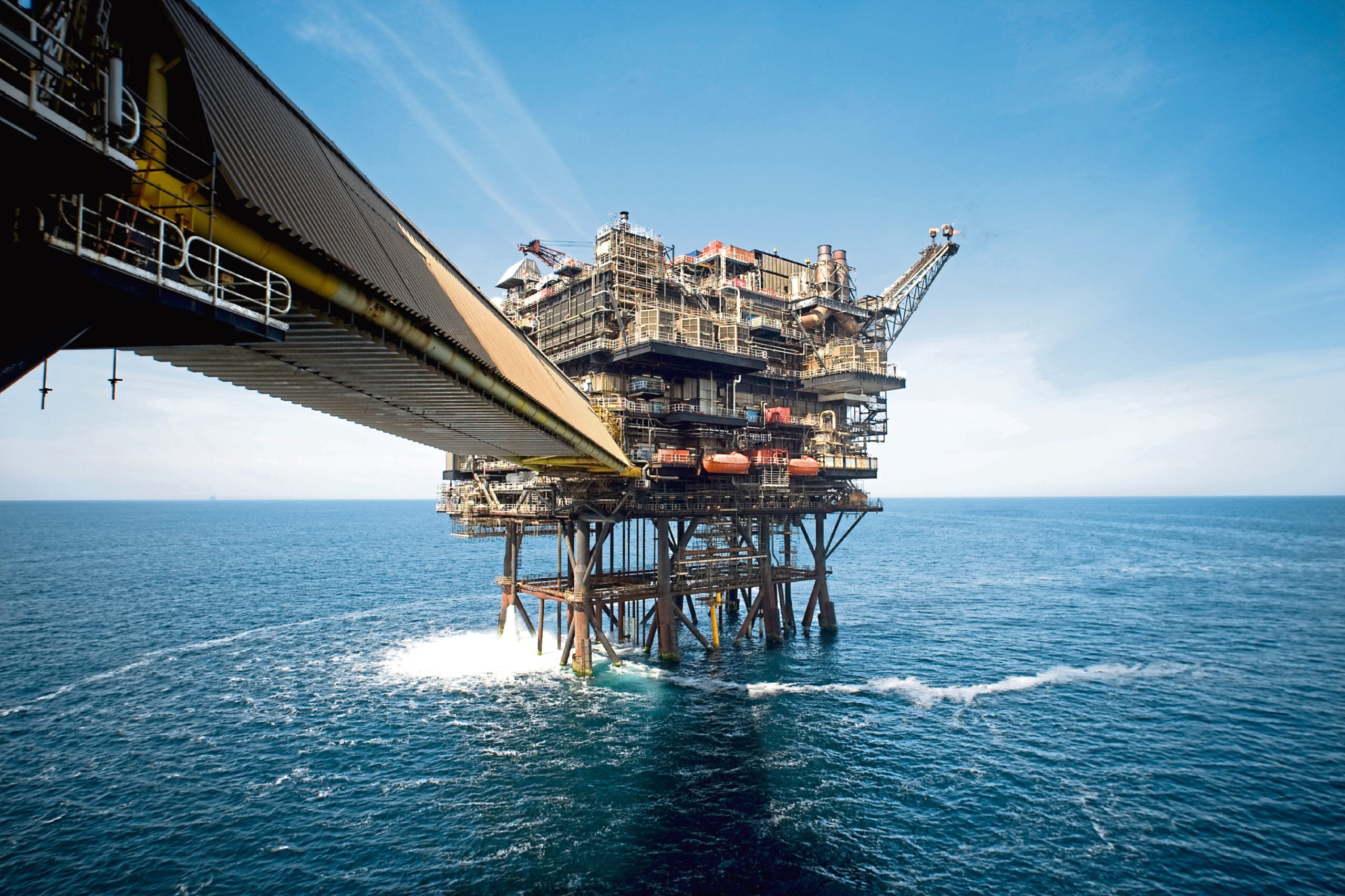 There are concerns the impact of the pandemic on the North Sea oil and gas industry could see Scotland's economy suffer more than that of the UK.