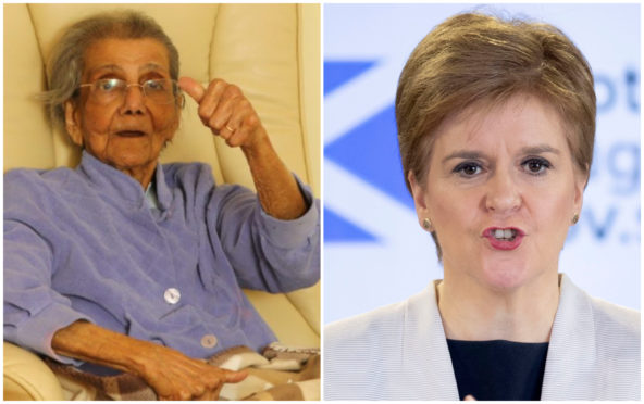 'Even in dark times, there is light and hope' – First Minister hails 98-year-old Perthshire woman who survived coronavirus