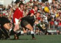 Dougie Morgan in action for the Lions on the 1977 Tour to New Zealand.