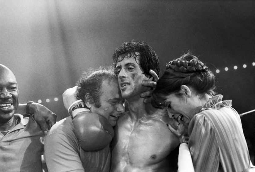 Sylvester Stallone in Rocky.