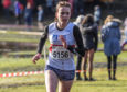 Steph Lindsays in action in the National Cross-Country at Falkirk in February.