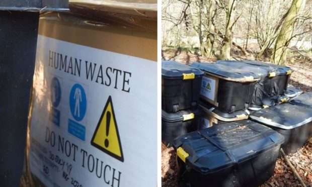 The human waste was found near Falkland.