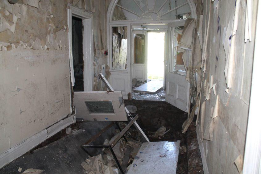 Inside Strathmartine Hospital.