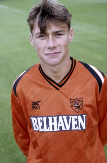 A young Duncan Ferguson at United