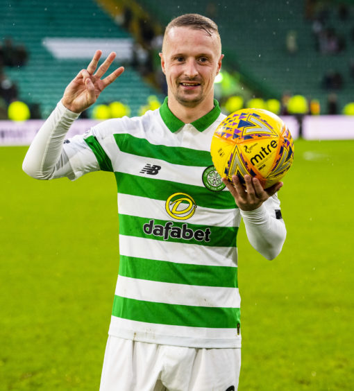 Griffiths has scored over a century of goals for Celtic, winning six league titles