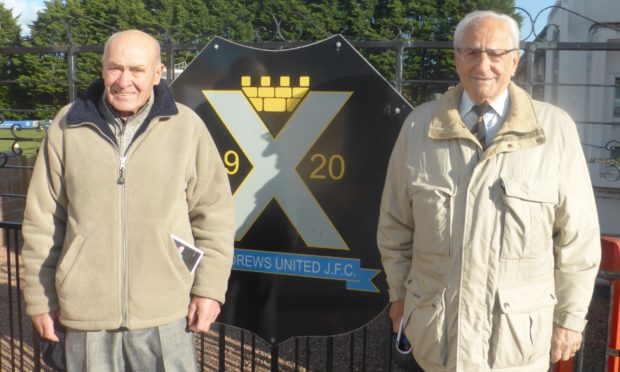 Tommy Will and Romeo Borella on a visit to Recreation Park in 2019