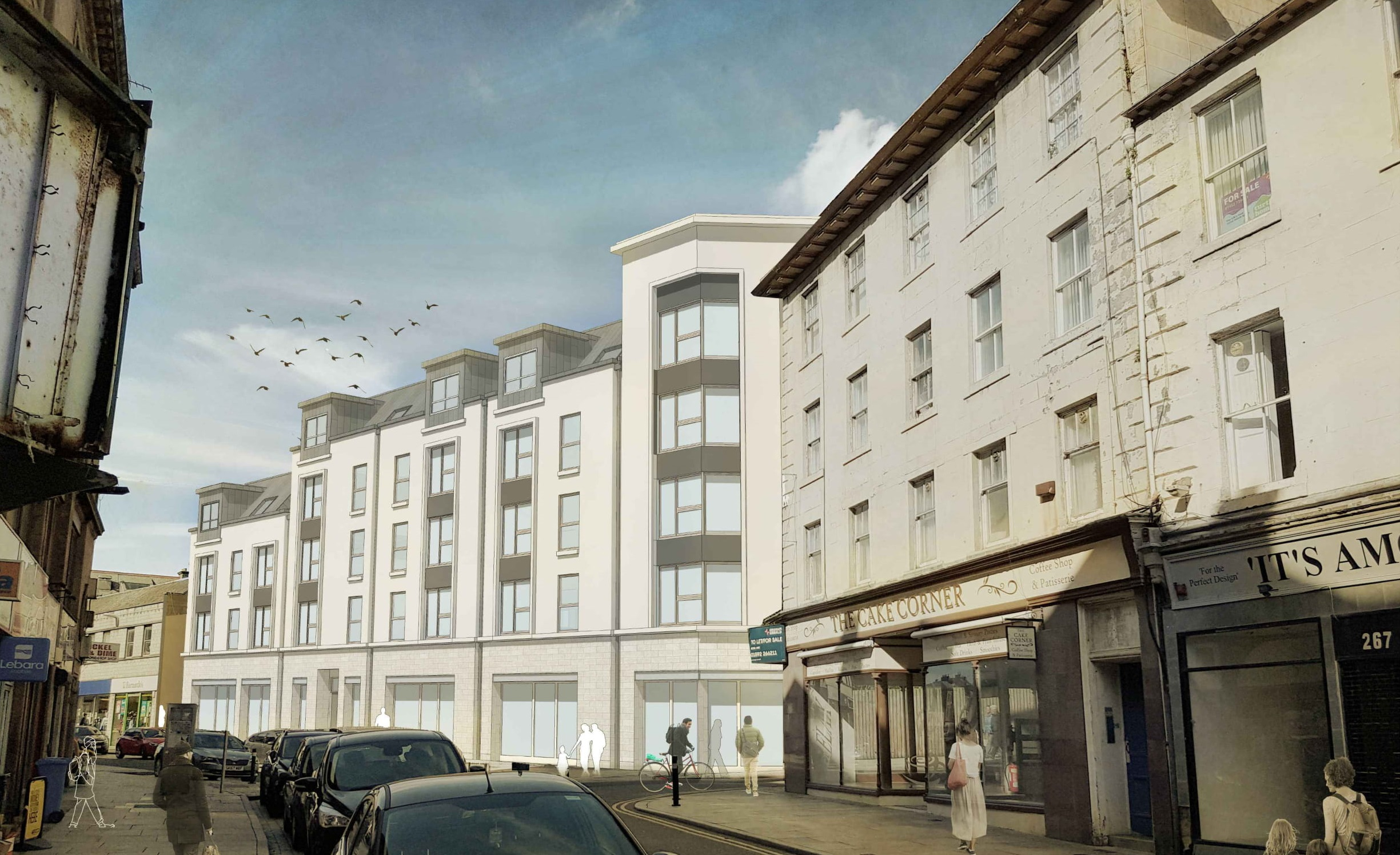 An artist's impression of how the proposed flats could look.