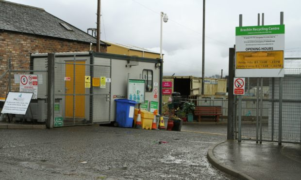 Brechin recycling centre.