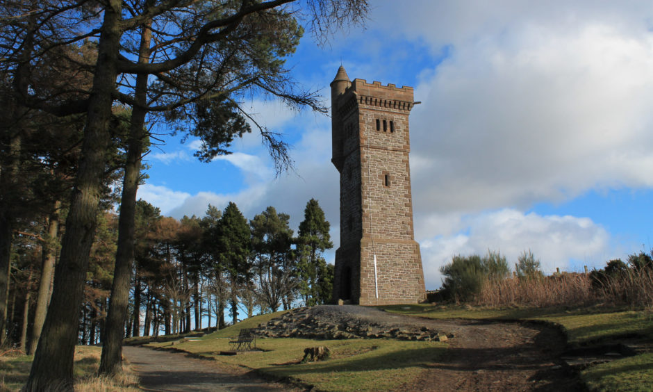 Walks around Balmashanner Hill in Forfar are included in a new book.