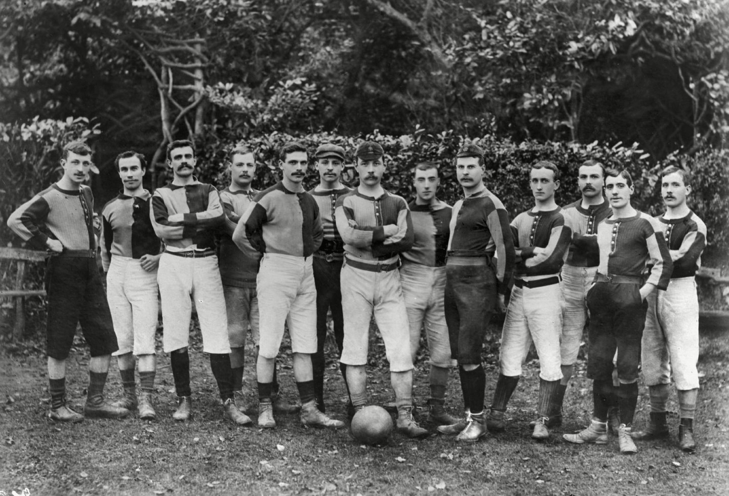 Dickson in the Aston Villa line-up at the 1892 FA Cup Final.