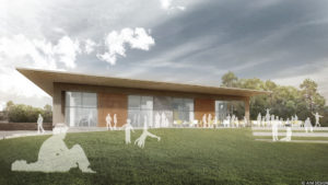 An architects impression of the new centre by Aim Design