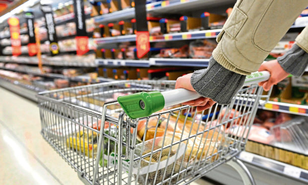 A supermarket shopper.