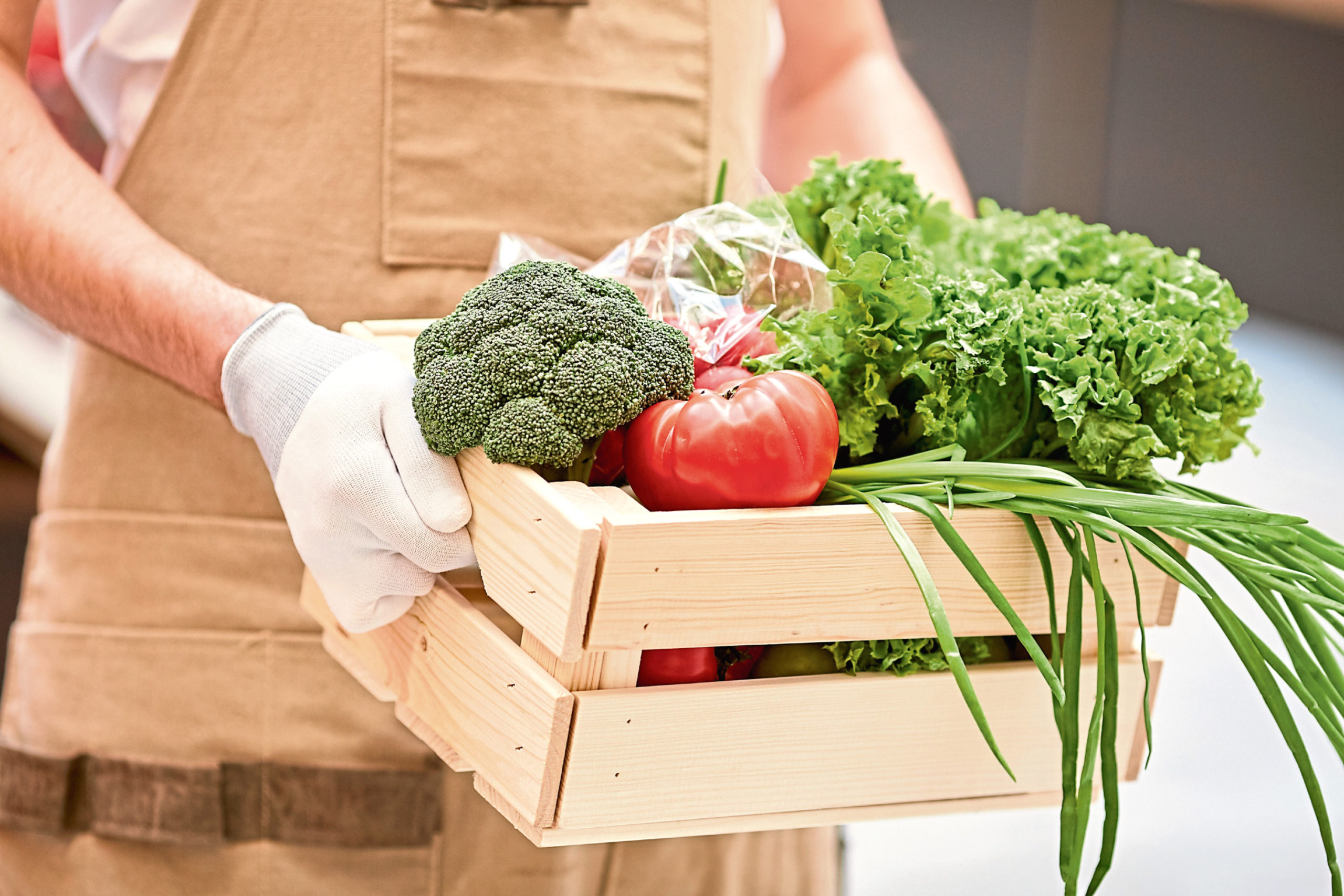 Sales of vegetable boxes have soared under lockdown.