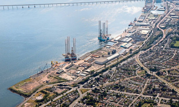 An aerial view of the Port of Dundee