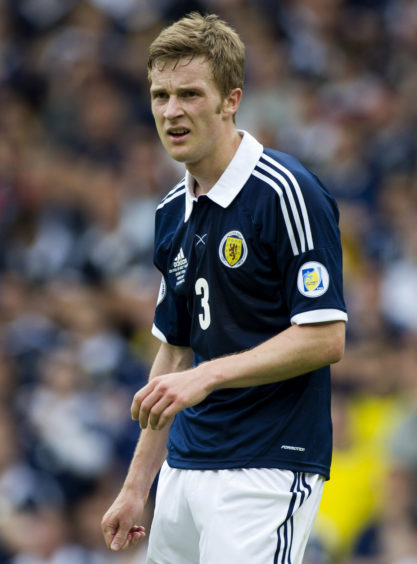 Paul Dixon in action against Serbia