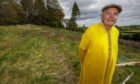 Andrew Threipland on the disused field section he plans to use for a Cemetary and Longbarrow