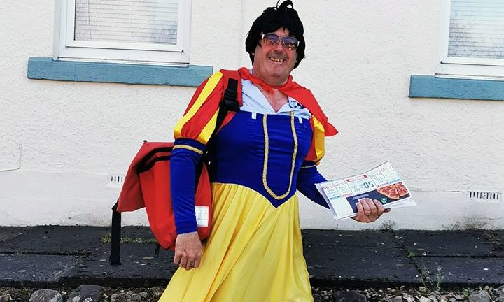 Postie Dougie Beattie has been dressing up on his round in Lundin Links and Lower Largo.