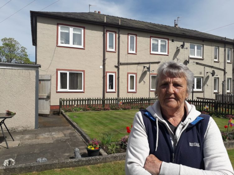 Isobel Fotheringham outside her home in Springbank, Alyth.