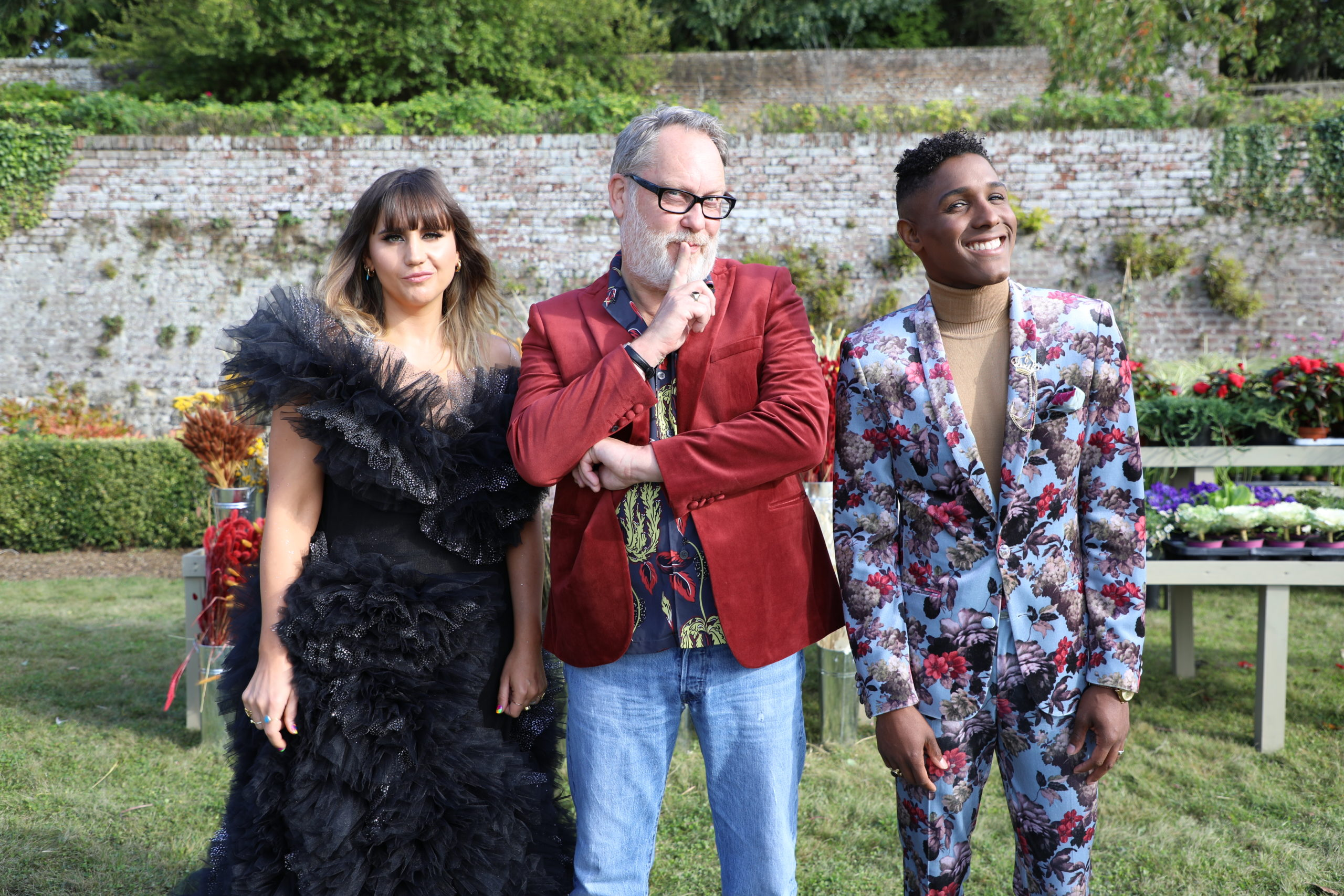 From left: Natasia Demetriou, Vic Reeves and Kristen Griffith-VanderYacht.