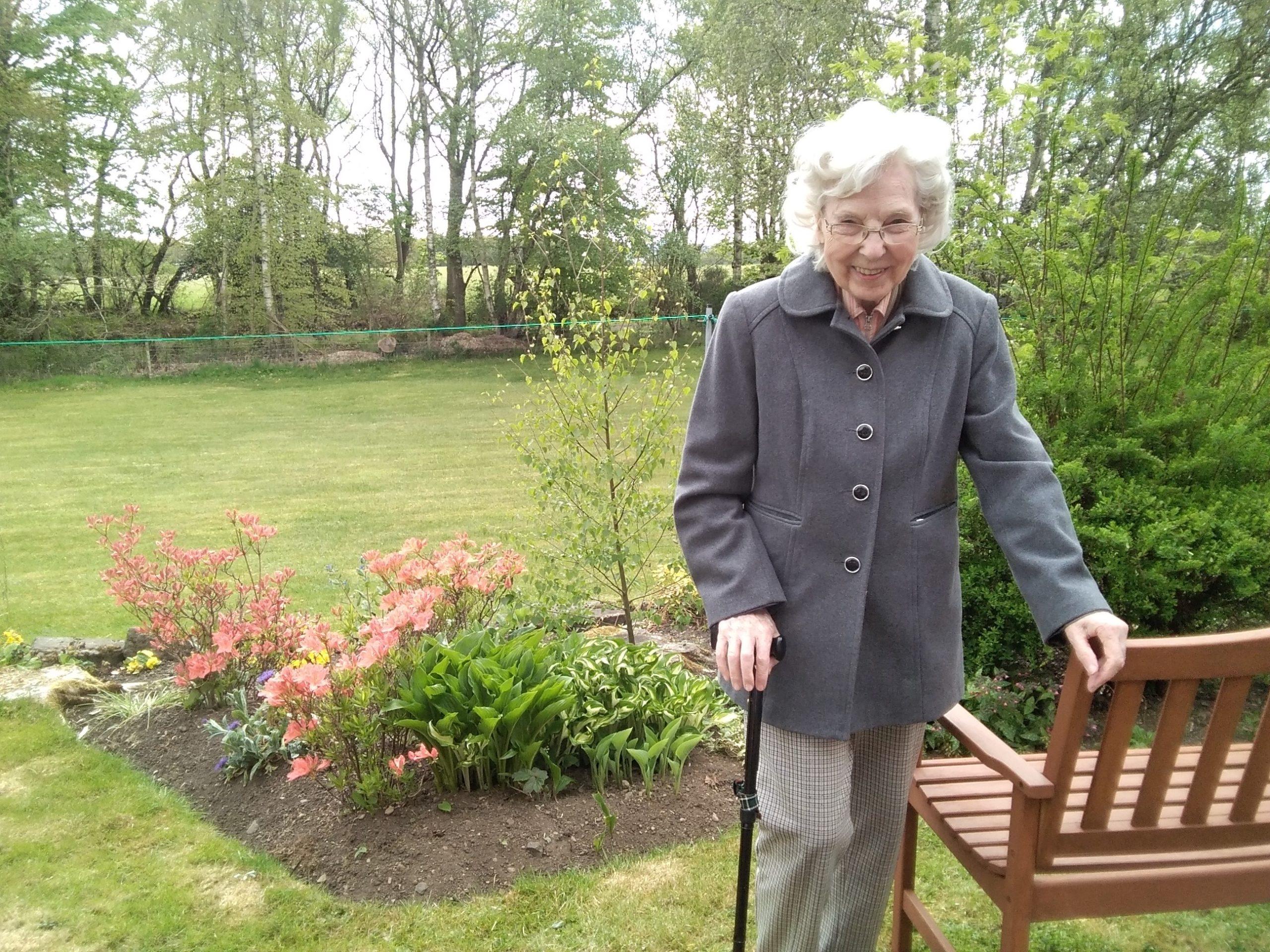 Marjorie Scott, resident at Muirton House.