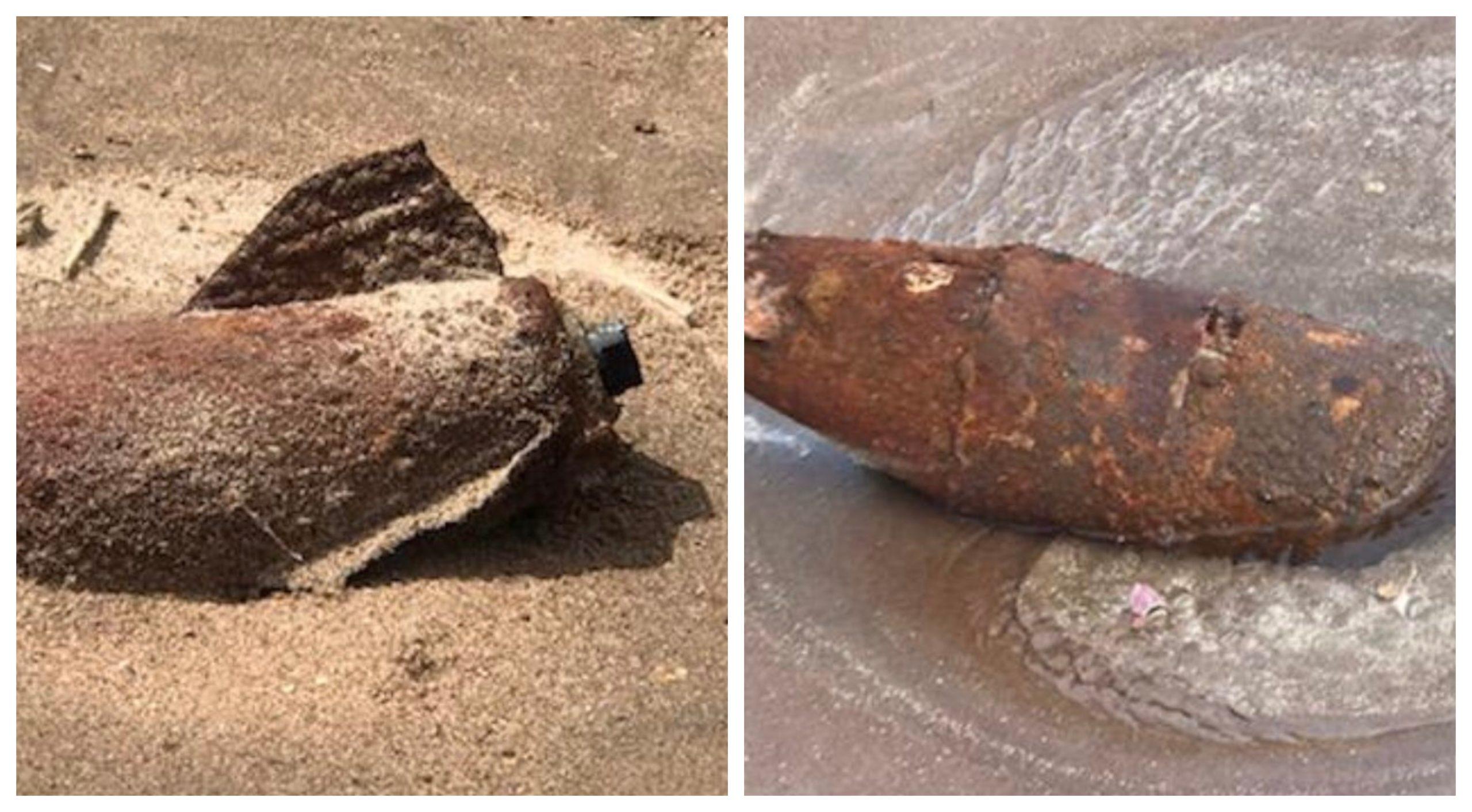 The bomb was found near Barry Buddon