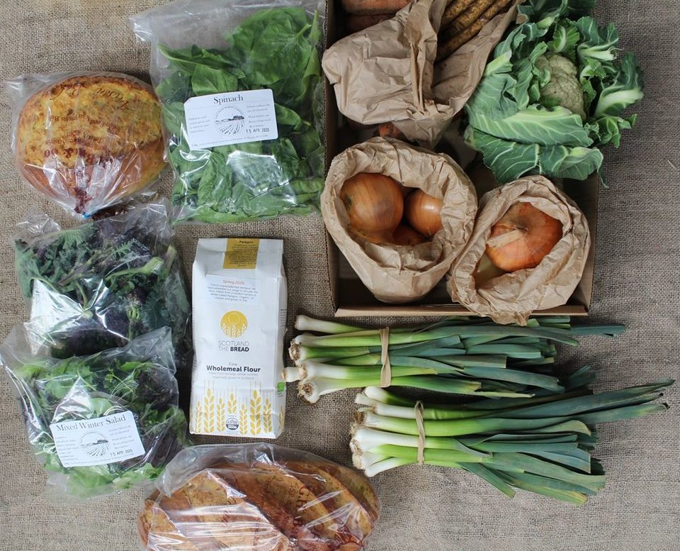 Some of the produce available at Bowhouse Link.