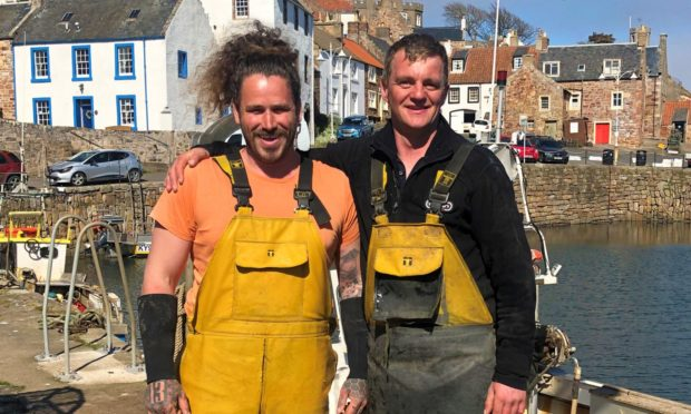 Creel fisherman Steve Smith with and Kirk Doig of Carisma Fishing