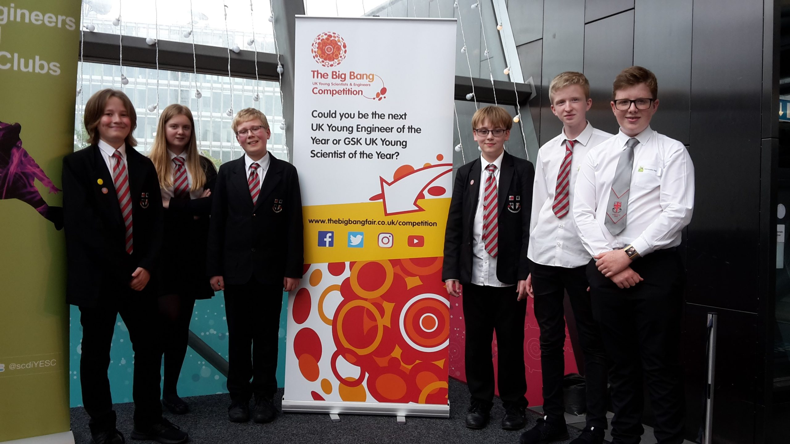 Carnoustie High School pupils Callum Ireland, Chrystalla Inglis, Matthew Booth, Cameron Stuart, Josh Hirst and Christopher Parke.