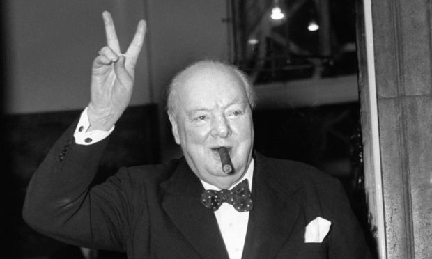 Sir Winston Churchill in September 1954.
