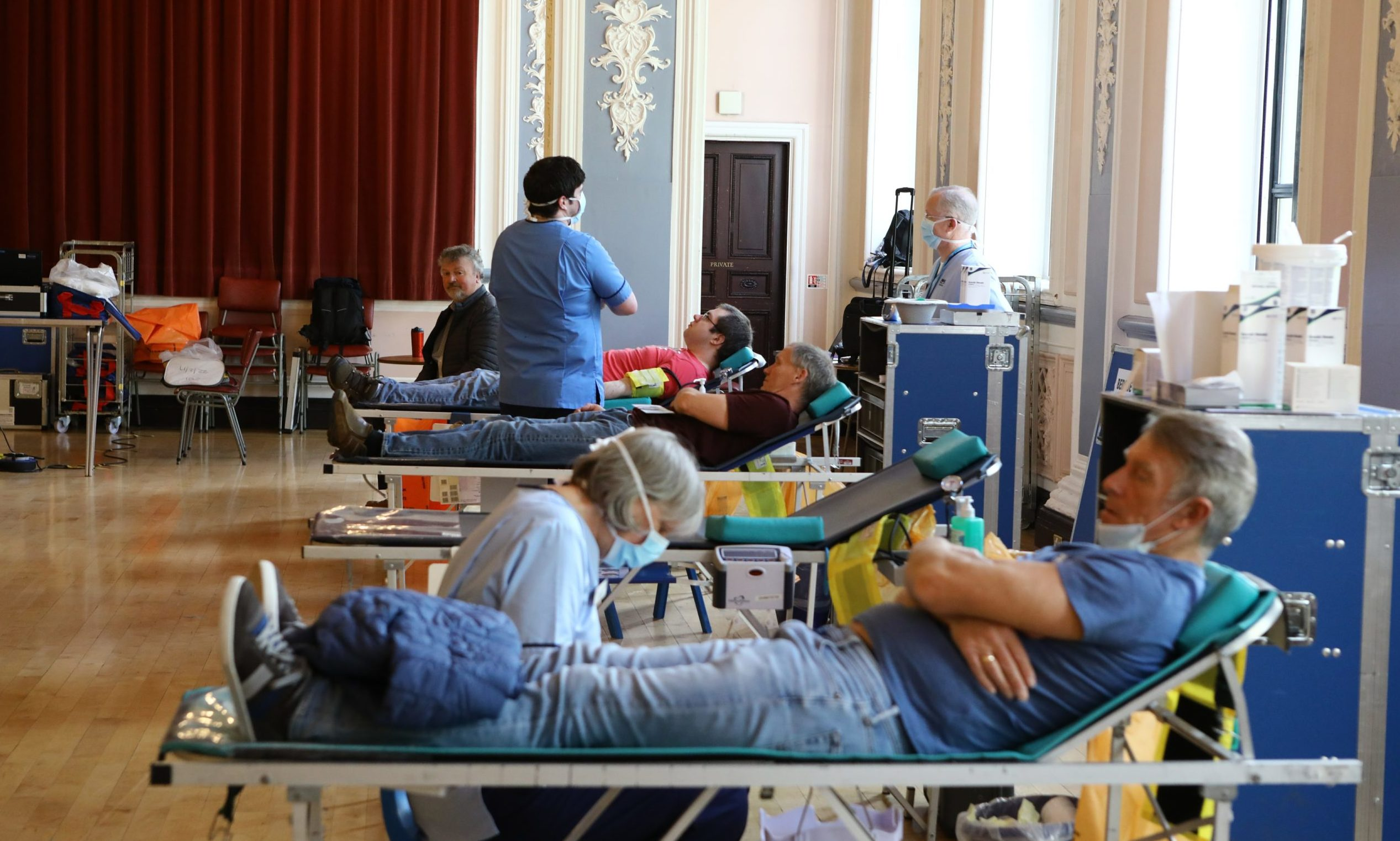 Donor sessions are taking place in Dundee's Marryat Hall.
