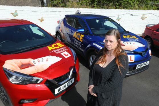 Driving instructor Dawn King, of Ace Driving School has been hit hard financially, due to the coronavirus crisis
