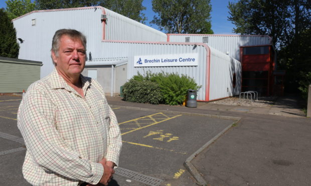 Cllr Kenny Braes at the former Brechin Leisure Centre Saturday 30th May 2020. Dougie Nicolson / DCT Media.