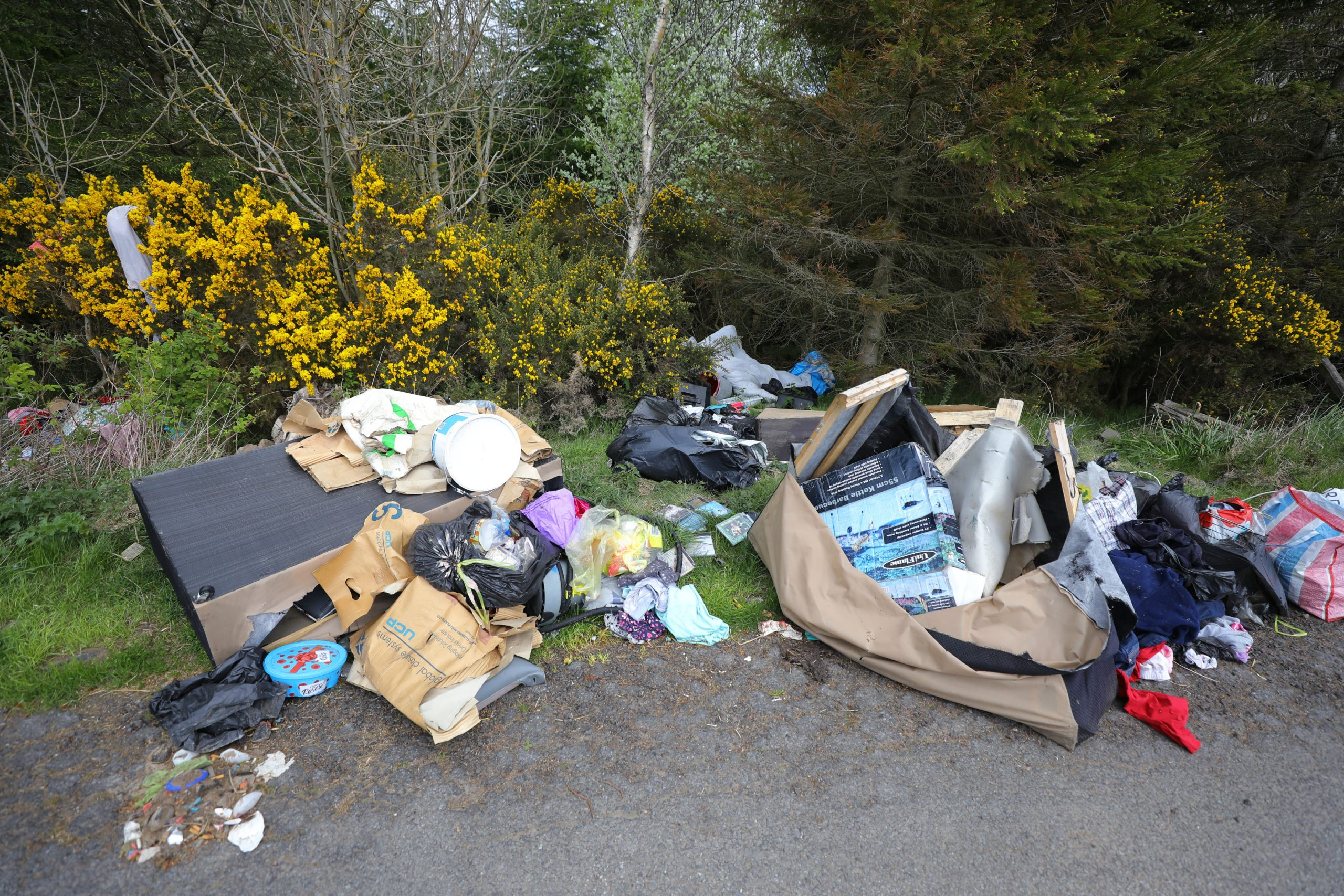 The mounds of waste found in Perthshire