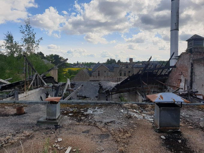 Fresh photos show the state of the Strathmartine Hospital site.