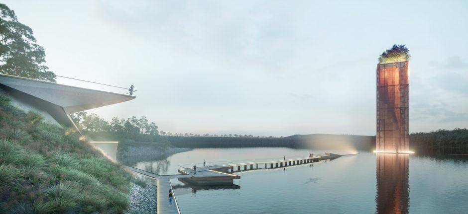 Artist impression of Eden Project Anglesea, Victoria, Australia.