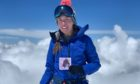 Kirsty Mack at the top of Mount Elbrus in Russia