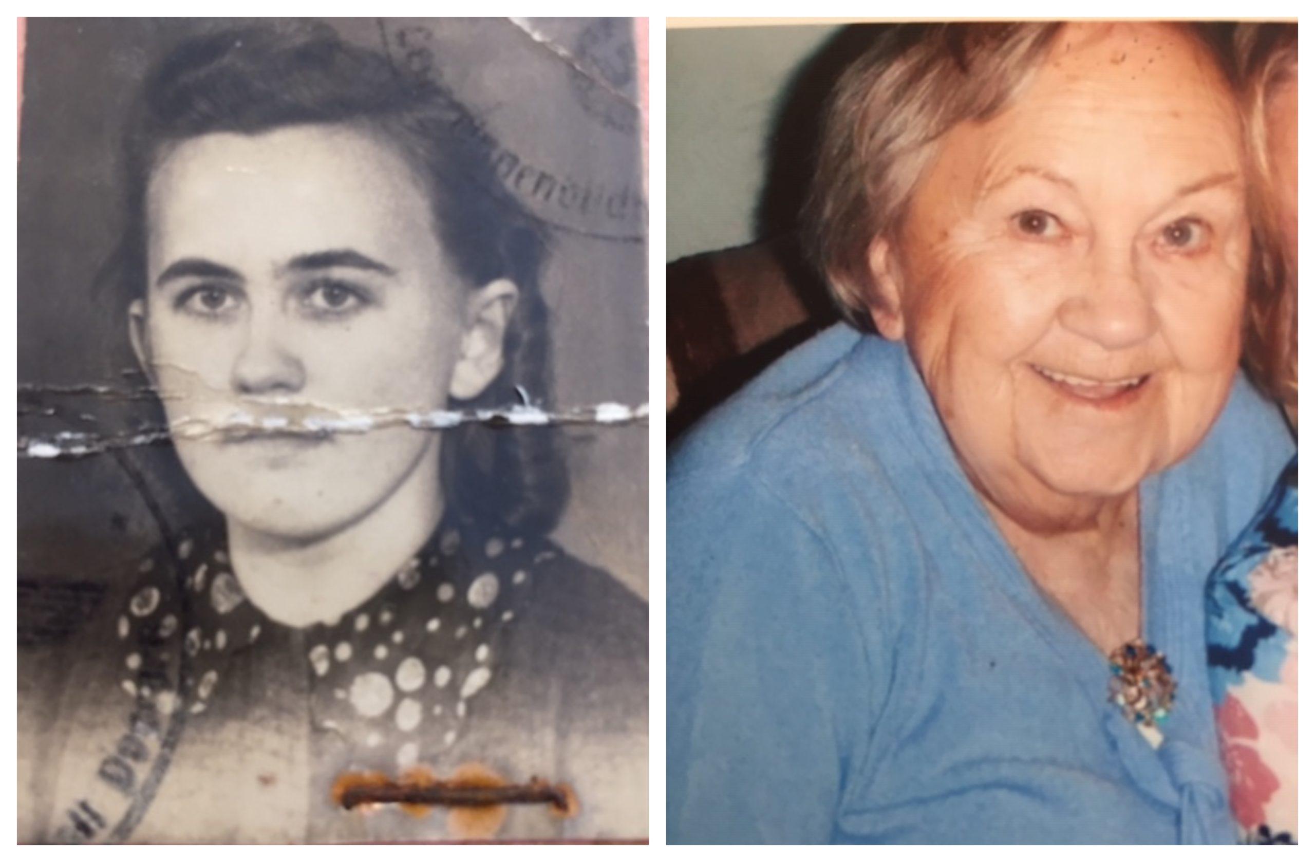 Eva Cormack in 1943 and in 2011