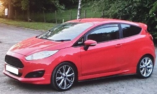 The Ford Fiesta was stolen on Sunday.