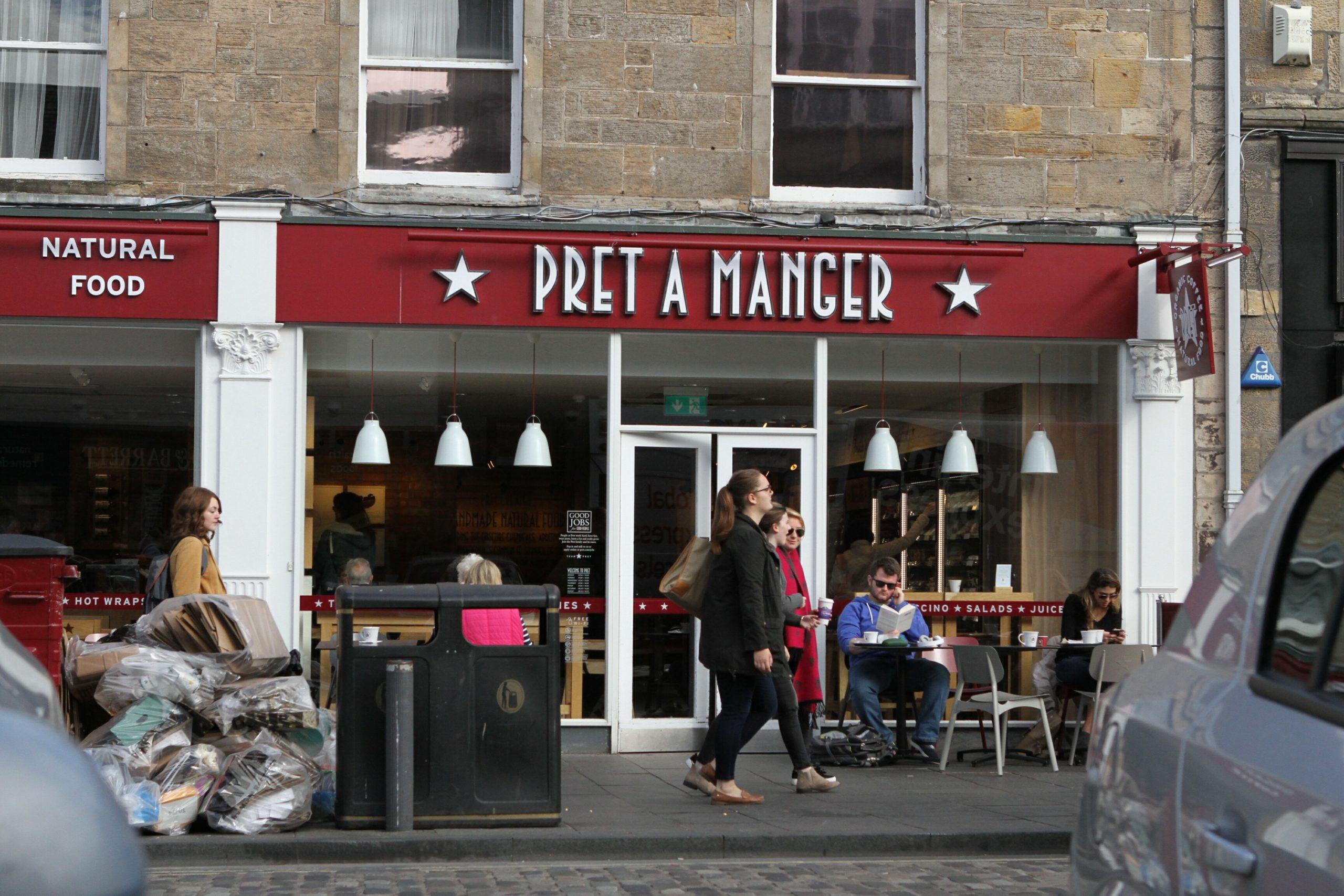 Pret A Manger in St Andrews.