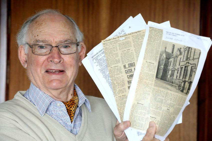 Kenneth Miln with his late father's stories.